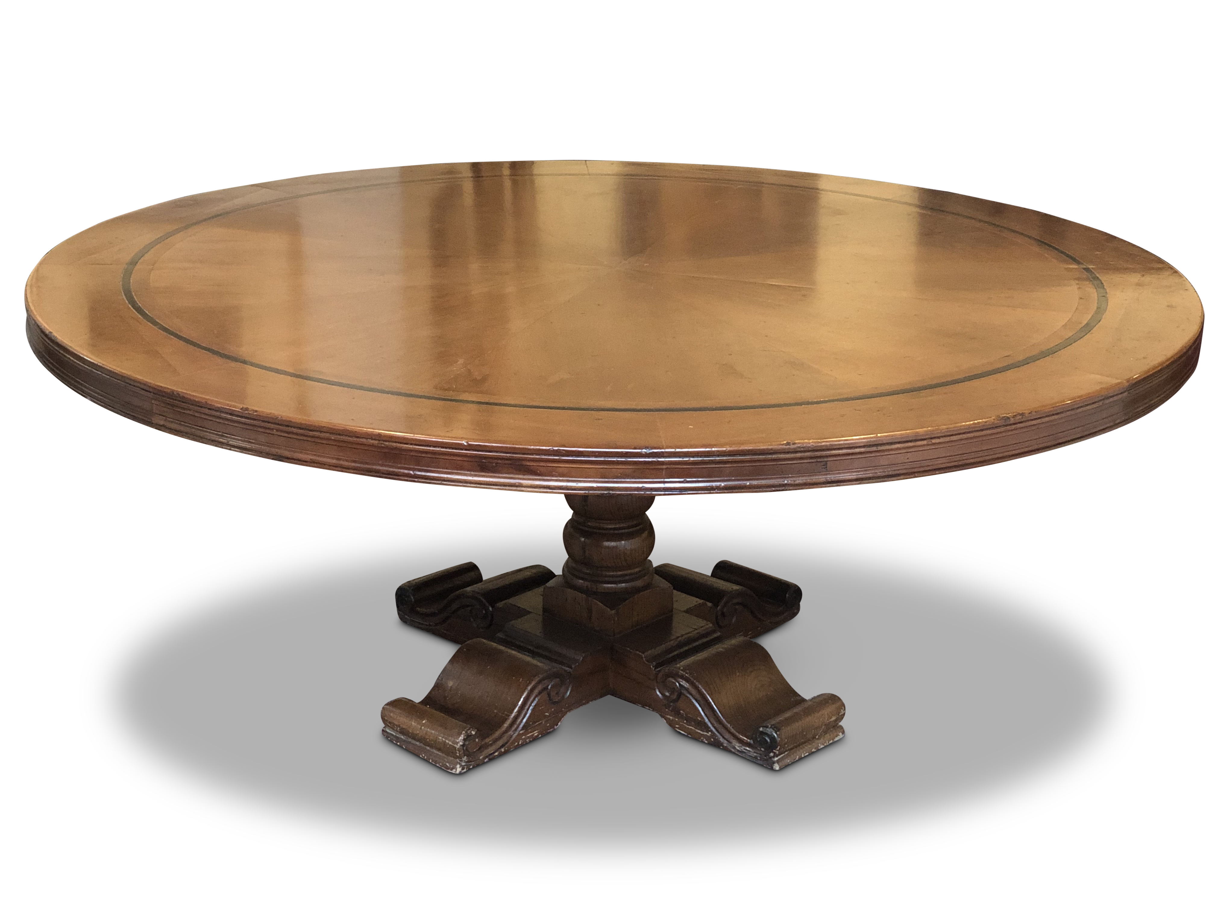 French Provincial Style Round Cherrywood Dining Table Valentines